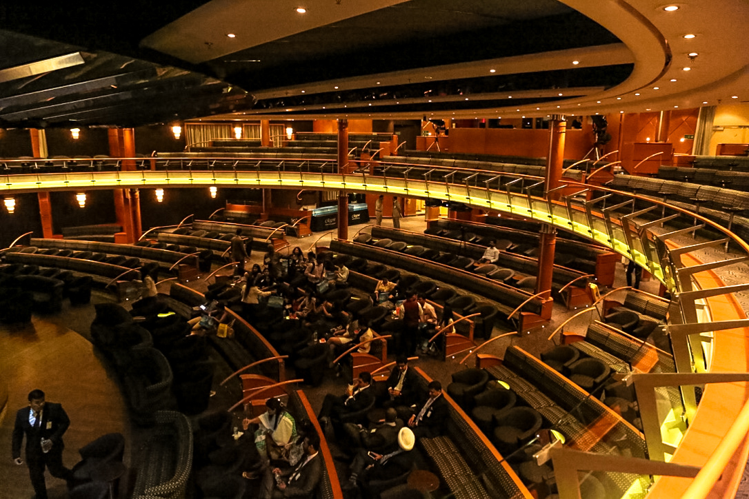 Most shows are staged at theatre on-board the Seven Seas Voyager