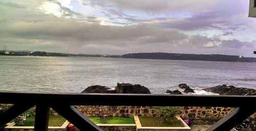 View from a tea parlour at Galle, Sri Lanka